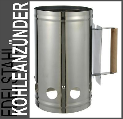 edelstahl bbq kohleanz nder grillkohleanz nder grillstarter anz ndkamin grill ebay. Black Bedroom Furniture Sets. Home Design Ideas