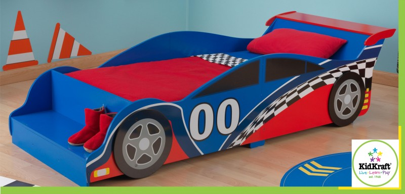 76038 kidkraft racecar rennautobett kinderbett rennauto kinder bett ebay. Black Bedroom Furniture Sets. Home Design Ideas