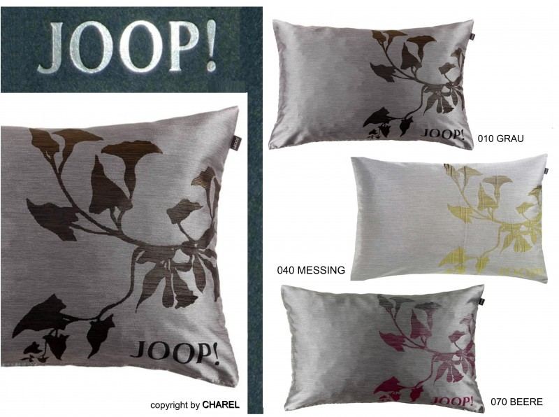 b 21366 joop blossom kissenh lle kissenbezug kissen grau beere messing 40x60 cm ebay. Black Bedroom Furniture Sets. Home Design Ideas