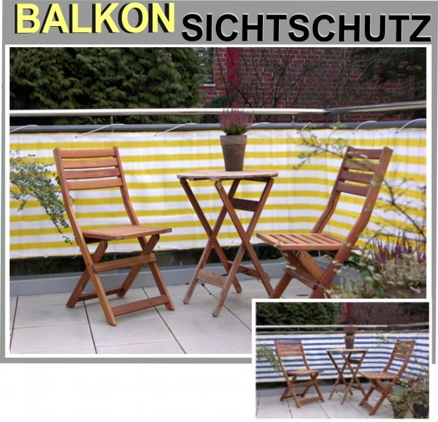 balkonsichtschutz balkon terrasse wind sichtschutz 6 m. Black Bedroom Furniture Sets. Home Design Ideas