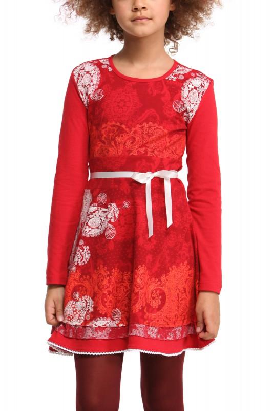 47v3187 desigual m dchen kleid vest magnolia 3000 carmin. Black Bedroom Furniture Sets. Home Design Ideas