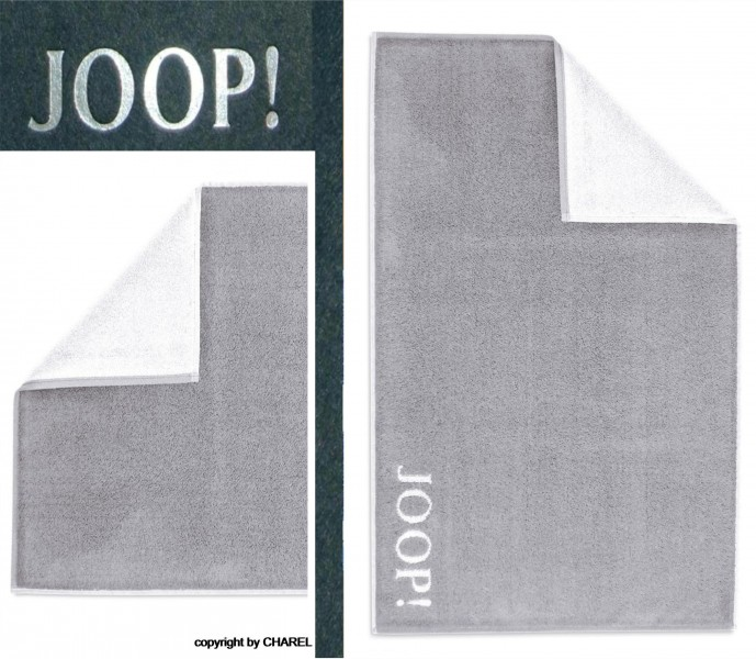 joop badematte duschmatte 1600 uni silber weiss 76 ebay. Black Bedroom Furniture Sets. Home Design Ideas